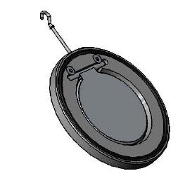 Clapet inox simple battant cb6441
